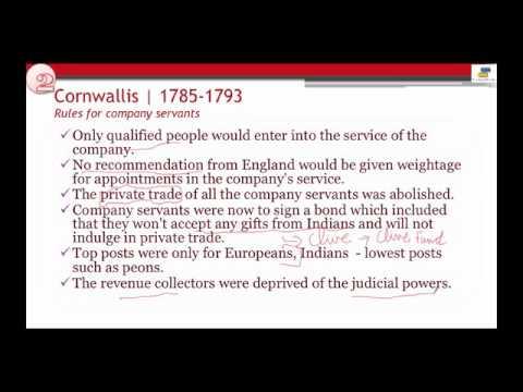 Governor Generals Cornwallis : History of India (видео)