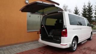 Otevírání zadních výklopných dveří 001 ve voze VW Multivan