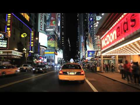 time square - This video takes you into the streets of Manhattan (New York City) via the Lincoln Tunnel, the world's busiest tunnel, and then back into New Jersey across t...