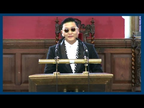 oxford - Highlights from PSY's Address to the Oxford Union. SUBSCRIBE for more speakers ▻ http://is.gd/OxfordUnion Facebook @ http://fb.me/theoxfordunion Twitter @ ht...