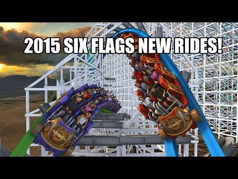 six - All of the Six Flags 2015 Announcement videos in one place! Images and footage courtesy of Six Flags. Click for more details: 0:08 Six Flags Magic Mountain Twisted Colossus: https://www.sixflags...