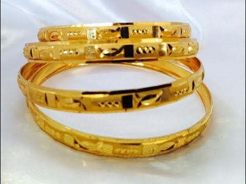 Video 22CT LATEST GOLD BANGLES DESIGNS || New model gold bangle collections download in MP3, 3GP, MP4, WEBM, AVI, FLV January 2017
