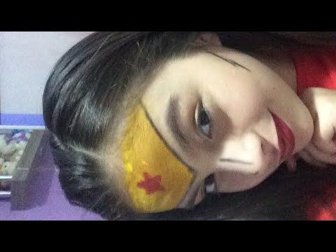 Como fazer maquiagem da mulher maravilha sexta da maquiagem