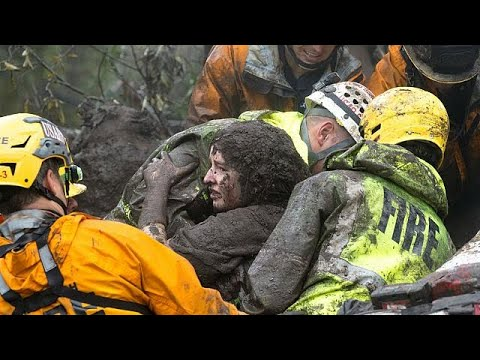 Καλιφόρνια: «Βγάζουμε ανθρώπους απ'τη λάσπη» λένε οι διασώστες