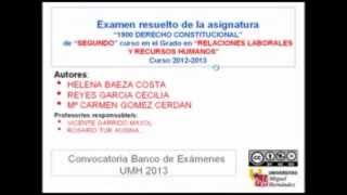 Umh1900 Derecho Constitucional. Examen Febrero 2012-13