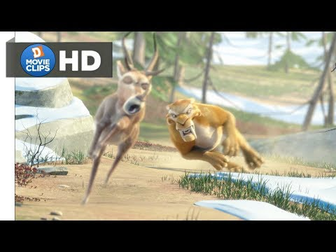 Ice Age 3 Hindi (02/18) Diego Chasing Deer Scene MovieClips