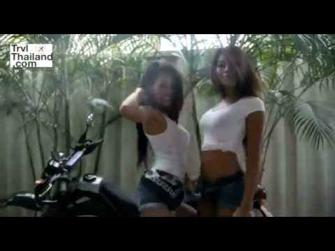 HOT SEXY Thai GIRLS Touring the Streets of Bangkok on Scooter