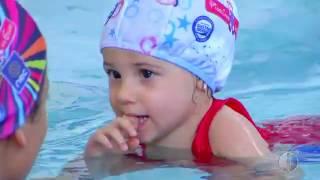 Confira os benefícios da natação na matéria com nosso cliente NEC/Pinguinho de Gente, veiculada no B