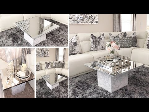 DIY Home Decor 2019 | Dollar Tree DIY Glam Mirror Table Set!