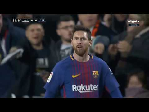 [HD] Lionel Messi Disallowed Goal - Valencia Vs Barcelona 1-1 - La Liga