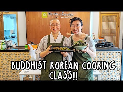 KOREAN TEMPLE FOOD COOKING CLASS | BUDDHIST + VEGAN
