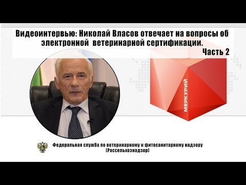 Николай Власов отвечает на вопросы об электронной ветеринарной сертификации. Часть 2