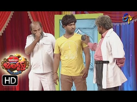 Jabardasth Telugu Comedy Show ,8th Sep 2017,Adhire Abhi performance - ETV Telugu