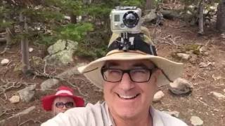 Hiking in Roosevelt National Park  near the Blue Lake outside Boulder, Colorado