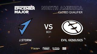 J.Storm vs Evil Geniuses, EPICENTER Major 2019 NA Closed Quals , bo1 [Autodestruction]