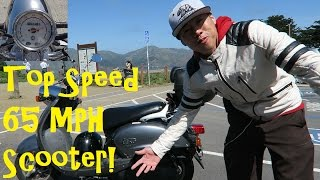 2. Fastest Scooter Top Speed 65 MPH! Yamaha Vino 125