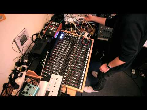 Bibio - Sequencing the SP1200 via MIDI and jamming on the mixing desk. Great fun. All the samples & beat are coming from the SP. FX: Akai MFC42 analogue filter, Boss...