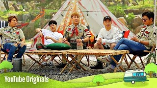 To prepare for their camping trip, Seungri and G-Dragon hit the grocery store. Afterwards, the members' moms show up to make their favorite lunches.YouTube Red Originals - http://youtube.com/Red. If you live outside the United States, Mexico, New Zealand, Australia or South Korea, click here for more details on availability in your country: https://goo.gl/UEojxv.