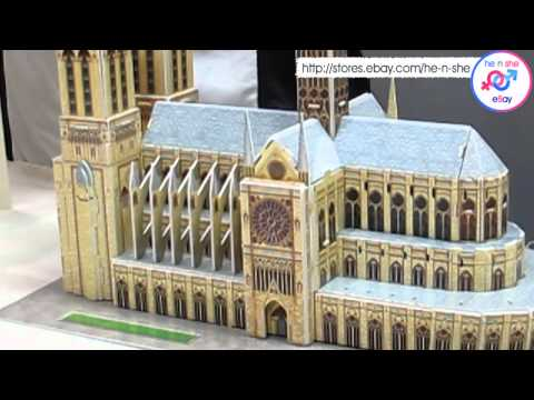 World's Great Architecture 3D Puzzle France Notre-Dame De Paris Demo Tutorial
