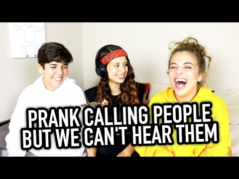 PRANK CALLING PEOPLE BUT WE CAN'T HEAR THEM ft. BabyAriel & Mario Selman