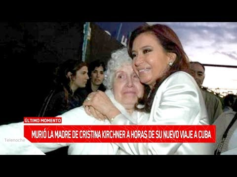 Murió Ofelia Wilhelm, la madre de la expresidenta de Argentina Cristina Kirchner (VIDEO)