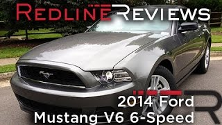 2014 Ford Mustang V6 6-Speed Review, Walkaround, Exhaust&Test Drive
