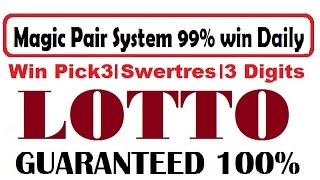 How to win lottery - Magic Pairs for Pick 3, 3 Digits, Swertres and Thai Lotto win 100% Daily You can back test previous results and current draw results you...