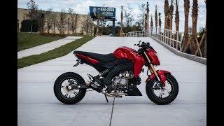 8. My modified  Kawasaki Z125 PRO