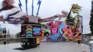 William Danters Extreme ride at Cwmbran Funfair 2017 Billy Danter Operating