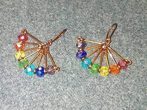 wire fan earrings - Handmade Jewelry Ideas  238