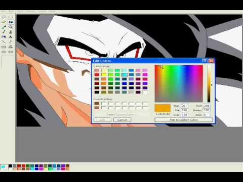 Drawing Gogeta Ssj4 ms Paint Drawing Goku Ssj4 in ms Paint
