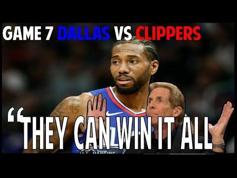 Skip Bayless reaction Dallas vs Clippers Game 7 Twitter