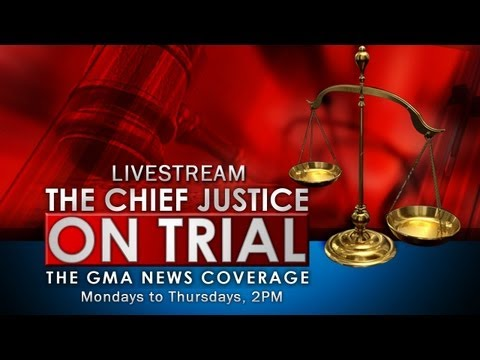 impeachment trial - Watch GMA News TV's live coverage of the impeachment trial of Chief Justice Renato Corona. Livestream starts at 2 p.m..