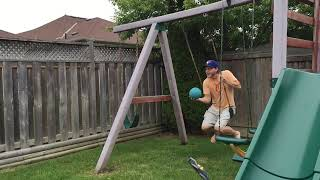 Uncle of the year pulls off high-flying dunk