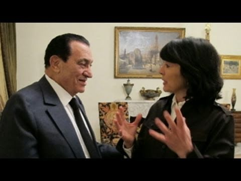 mubarak - ABC's Christiane Amanpour gets an interview with the embattled President.