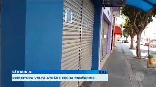 São Roque: Prefeitura fecha comércio novamente.