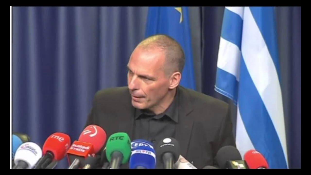 Δηλώσεις Βαρουφάκη μετά το τέλος του Eurogroup
