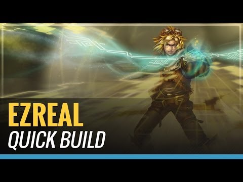 ezreal build - Ezreal Quick Build! Blue Build Ezreal has died. To many nerfs to those times. League of Legends FREE to PLAY- http://awe.sm/jHEXY -LOOKING FOR A BUILD? CHECK...