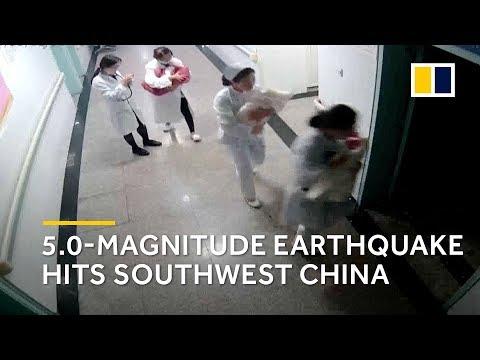 Heroic nurses react to earthquake in Yunnan, China