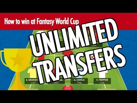 Win at Fantasy World Cup: UNLIMITED TRANSFERS