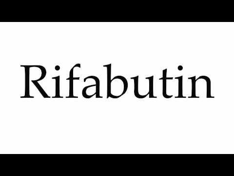 How to Pronounce Rifabutin
