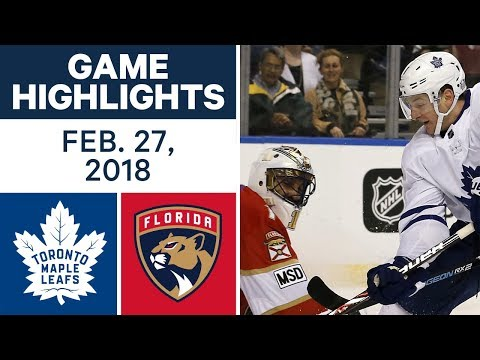 Video: NHL Game Highlights | Maple Leafs vs. Panthers - Feb. 27, 2018