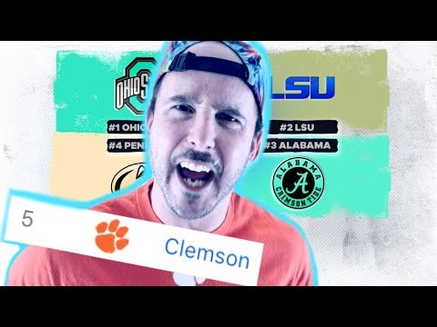 Fans React To The College Football Playoff Rankings (Part 1)