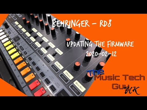 Updating the firmware of your Behringer RD8
