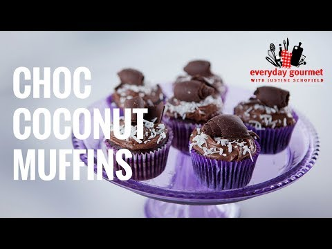 Choc Coconut Muffins | Everyday Gourmet S7 E28