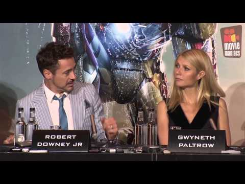 robert downey jr - the full offical London press conference with director Shane Black, Rebecca Hall, Robert Downey Jr., Gwyneth Paltrow, Sir Ben Kingsley, Don Cheadle and write...