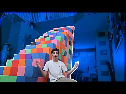BUILDING A FOAM PIT STAIRCASE!! (ATTEMPTING TO CLIMB UP) | FaZe Rug