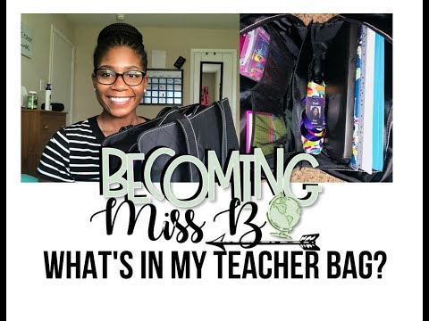 What's in my TEACHER BAG? | First Year Teacher | Becoming Miss B