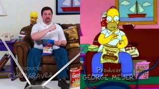 Il mange comme Homer Simpson