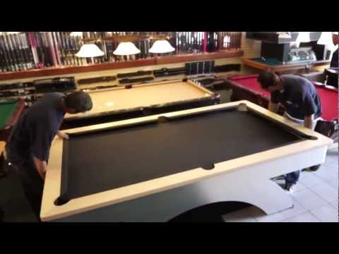 Pool Table Installation: Step 6 – The Felt